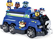 Paw Patrol, Chase's Total Team Rescue Police Cruiser Vehicle with 6 Pups, For Kids Aged 3 &