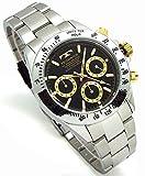 TECHNOS テクノス メンズ腕時計 クロノグラフ ブラックダイヤル 工具ブレスセット TSM401LB-SET [並行輸入品]