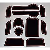 KINMEI(キンメイ) HONDA JADE ジェイド ハイブリッド 赤 専用設計 インテリア ドアポケット マット ドリンクホルダー 滑り止め ノンスリップ 収納スペース保護ja-r