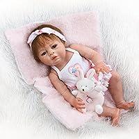 NPK 19インチフルボディSiliconeビニールReborn人形ベビー人形Lovely Lifelikeキュートベビー人形ガールおもちゃ