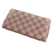 [ルイ?ヴィトン] N60003 ジッピー?ウォレット 長財布(小銭入れあり) ダミエキャンバス レディース