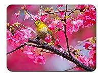 桜の木の鳥 パターンカスタムの マウスパッド 植物・花 (26cmx21cm)