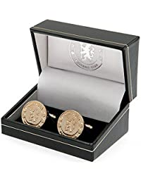 Chelsea F.c. Gold Plated Cufflinks Official Merchandise