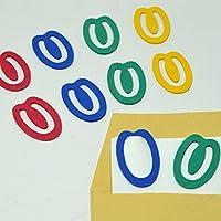 紙クリップ SD-15 4色ミックス200個入り ペーパークリップ paper clip エコクリップ かわいいクリップ