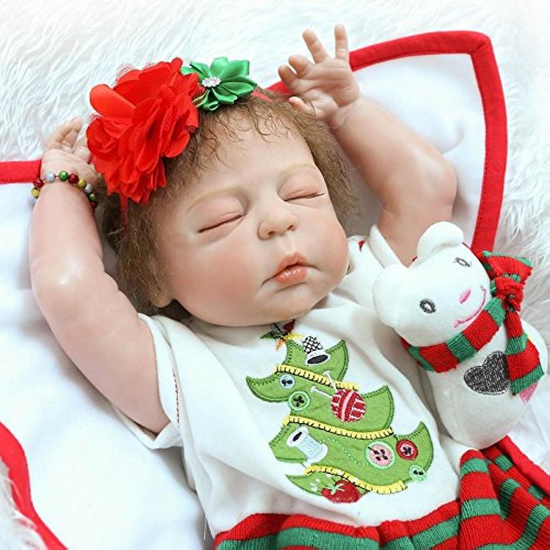 クリスマス新生児女の子人形Reborn Sleeping GirlダミーLook Realフルボディビニール正しいAnatomical for Festivalギフト