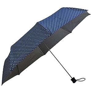 カクセー レイニードット UV 折りたたみ傘 56cm ネイビー 73243070