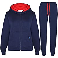 Kids Tracksuit Girls Boys Fleece Hooded Hoodie Bottom Jogging Suit Jogger 5-13Yr