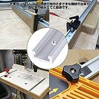Acogedor Tスロット 木工用のT-トラック アルミニウム合金製 耐久性と実用性に優れる テーピングねじ付き
