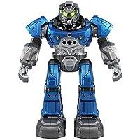 Domybest ラジコンロボット 人型ロボット JJRC-R5 インテリジェント 子供おもちゃ 男の子 スマートウォッチでフォロー 音楽 機械語 英語 踊る 多機能 遠い制御距離 誕生日プレゼント かっこいい 人気 (ブルー)
