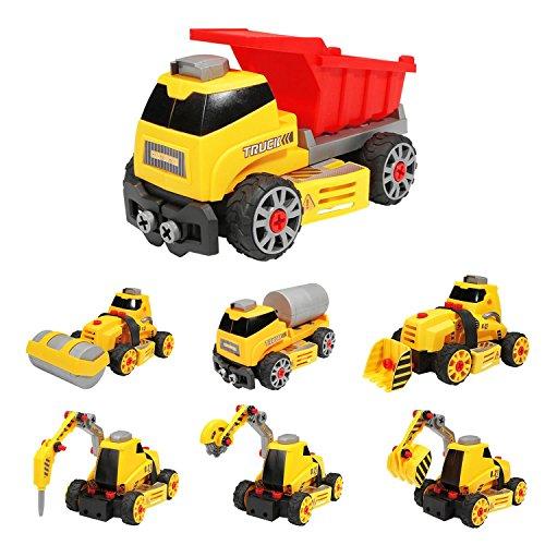 Flycreat DIY 車 おもちゃ 知育玩具 作業車 模...