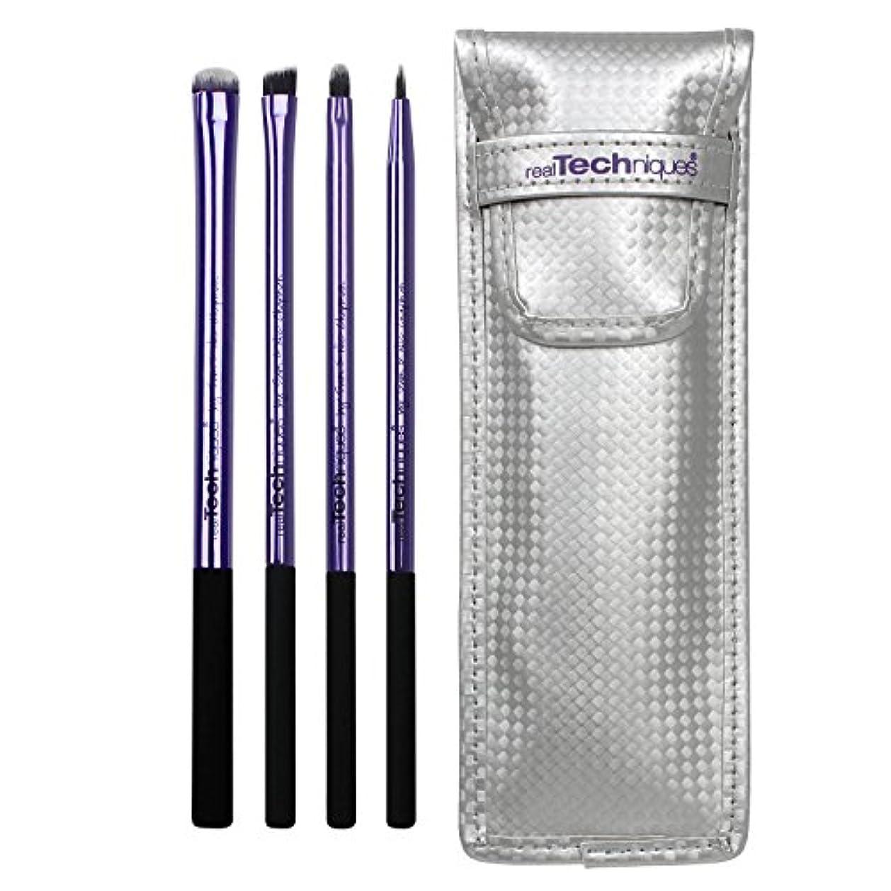 進化する速度抵抗力があるReal Techniques Limited Edition Eyelining Set Plush Synthetic Bristles (並行輸入品)