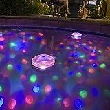 Hyperia RGB Glow Light Underwater LED Disco Aquarium Glow Light Waterproof in tub Pond Pool Spa Hot Tub Bathtub Floating Lamp