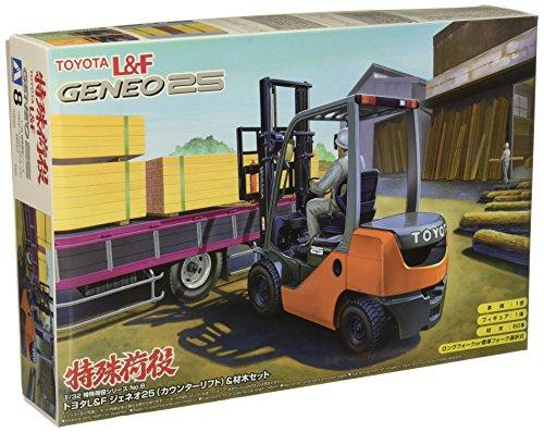 1/32 特殊荷役 No.08 トヨタL&F ジェネオ25(カウンターリフト)&材木セット