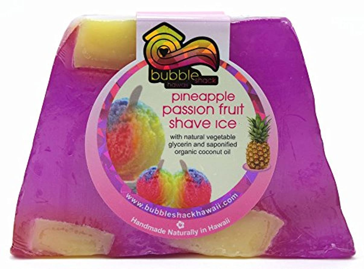 テクスチャー異なる冗談でハワイ お土産 ハワイアン雑貨 バブルシャック パイナップル チャンクソープ 石鹸 (シェイブアイス) ハワイ雑貨