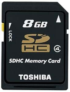 【Amazon.co.jp限定】TOSHIBA SDHCメモリカード Class4 8GB SD-AH08GWF [フラストレーションフリーパッケージ(FFP)]