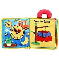 PANCY ベビー用 布の絵本 知育玩具 絵本 布製 学習 多機能 英語 数字 図形 ボタン 動物