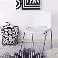 HBZY 椅子スタッキング可能なプラスチック製の椅子を議 座席 (色 : 白)