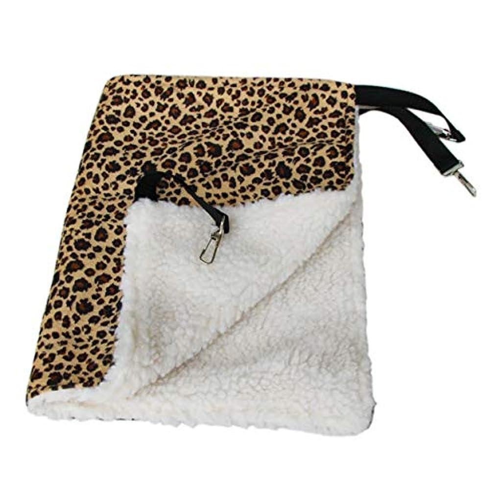 クリップ回転症状Saikogoods 暖かいハンギング猫ベッドマットソフトキャットハンモック冬ハンモックペット子猫ケージベッドカバークッションエアベッドペット 黄 L