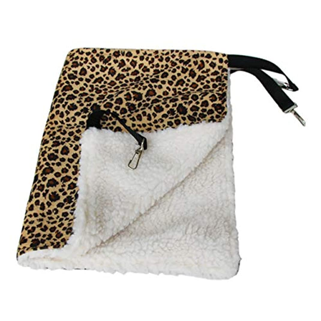 未使用普通の動くSaikogoods 暖かいハンギング猫ベッドマットソフトキャットハンモック冬ハンモックペット子猫ケージベッドカバークッションエアベッドペット 黄 L