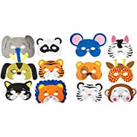 [ロードアイランドノベルティー]Rhode Island Novelty 24 Assorted Foam Animal Masks for Birthday Party Favors DressUp Costume [並行輸入品]