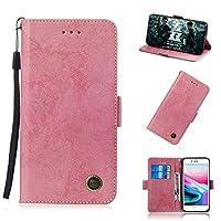 iPhone 7 iPhone 8 財布 シェル, iPhone 7 iPhone 8 シェル, Happon プレミアム レザー ジッパー 財布職能 al カバー リムーバブル カード スロット ポケット ポーチ フリップ 保護 カバー の iPhone 7 iPhone 8-Pink
