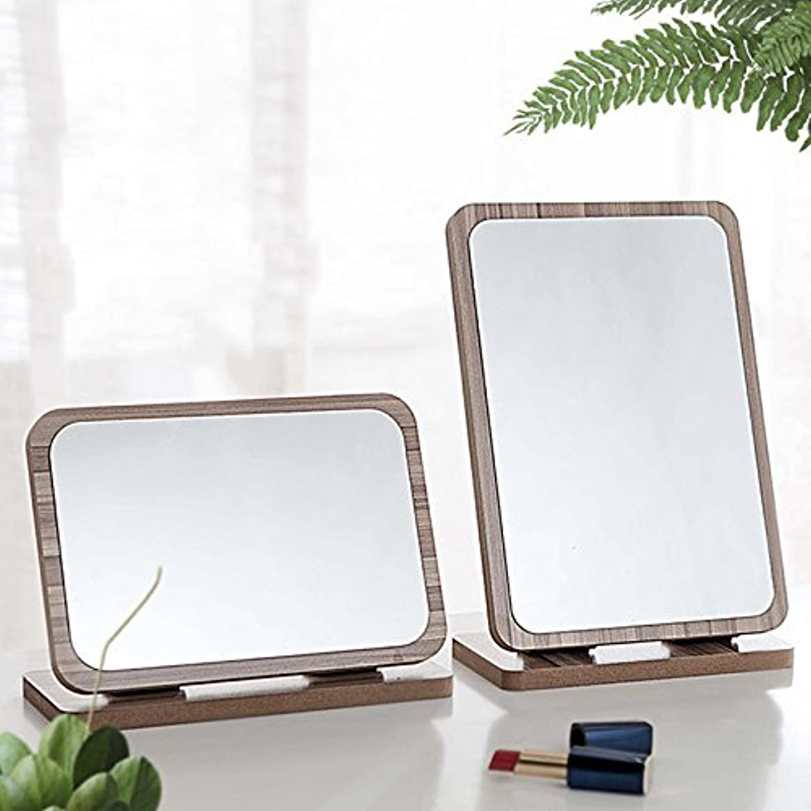 YZUEYT デスクトップ木製の化粧鏡3倍拡大180度回転ポータブルバニティバスルームメイクツール YZUEYT (Color : NO. 10#)