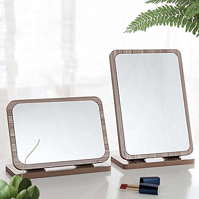 レイ行動神のYZUEYT デスクトップ木製の化粧鏡3倍拡大180度回転ポータブルバニティバスルームメイクツール YZUEYT (Color : NO. 10#)