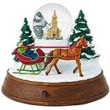 ホールマーク クリスマス エバーグリーン そり ライド ミュージカル スノーグローブ ライトスノードーム