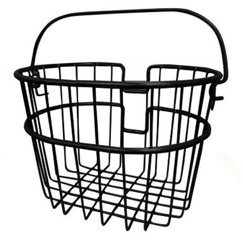 報告書男らしさ暖炉リクセンカウル ミニワイヤーバスケット ブラック フロントバイクバスケット