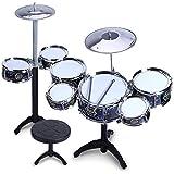 HXGL-ドラム 子供のドラム音楽教育玩具パーカッションEarly Beat 7 Drums (色 : 黒)