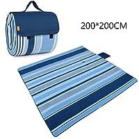 ピクニックマット 200 * 200CM防湿マット屋外ポータブル防水折り畳み式ピクニックマット (色 : A)