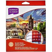 Derwent Academy Acrylic Paint 12Ml 24Pk