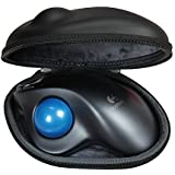 Logicoolワイヤレストラックボール M570t 専用収納ケース-Hermitshell (PU, ブラック)