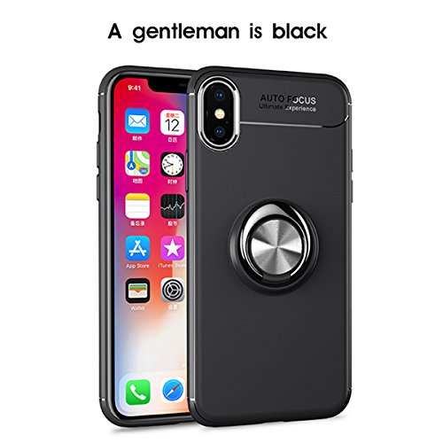 iPhone X Clear Case Ultra Thin Anti-slip TPU Cover Phoebe Protective case 快適 for 女性用 iPhone X (Black)