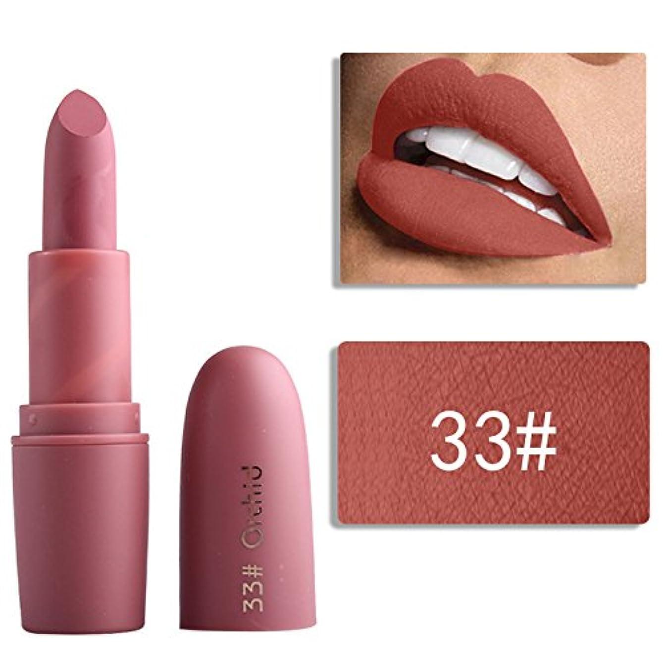 好きメダリスト粘着性Miss Rose Nude Lipstick 22 colors Waterproof Vampire Brown Beauty Baby Lips Batom Matte lipstick Makeup Tats Eugenie...