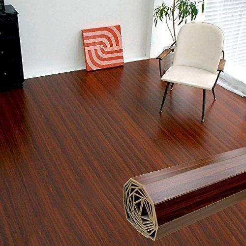 ウッドカーペット 6畳用 江戸間6畳用 約260x350cm [ブラウン色] [板幅7cmタイプ] [GA-70シリーズ] [4色展開] DIY フローリング 木目 簡単 敷くだけ シート セルフリフォーム 低ホルマリン [並行輸入品]