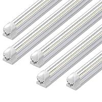 LEDショップ照明器具 V型統合器具 T8ライトチューブ ガレージ用LED電球 倉庫用 プラグアンドプレイ 8Ft-72W-7500LM