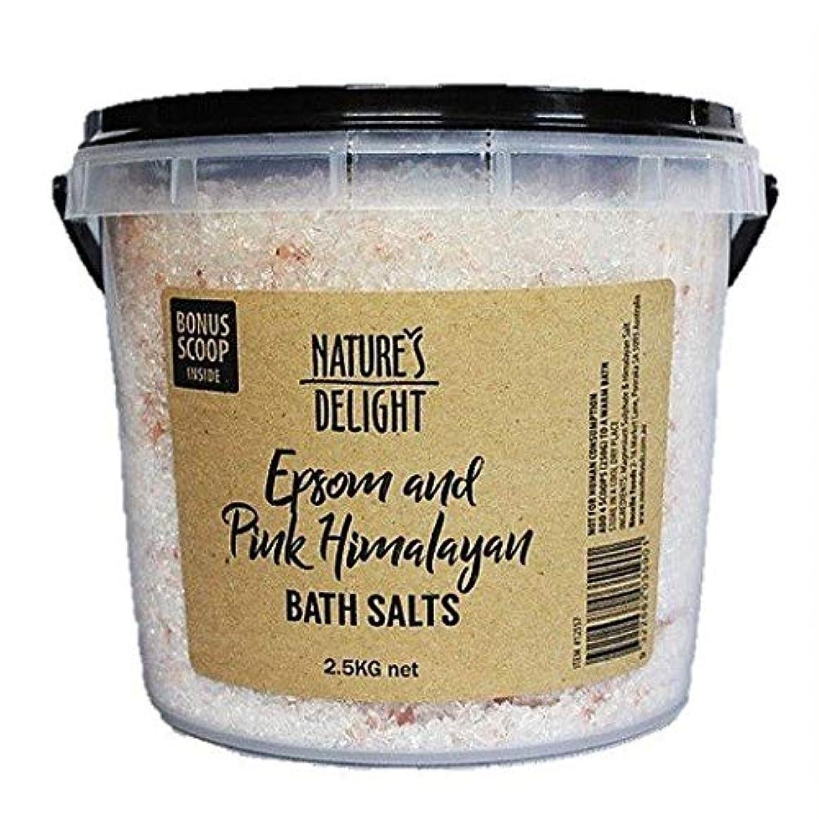 嫌な発疹寝るヒマラヤ岩塩 エプソムソルト&ピンクヒマラヤ バスソルト 2.5kg 専用計量スプーン付