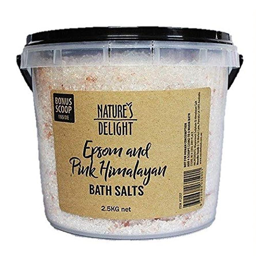 ヒマラヤ岩塩 エプソムソルト&ピンクヒマラヤ バスソルト 2.5kg 専用計量スプーン付