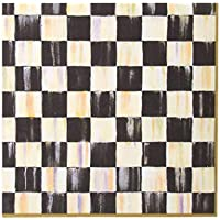 MacKenzie-Childs Courtly Cheque Paper Napkins Gold - Dinner (20 per Pack)