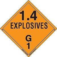 Labelmaster PSR75 Explosive Class 1.4 G Placard, Removable Vinyl (Pack of 25) [並行輸入品]