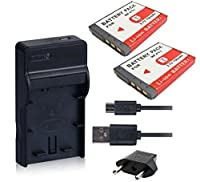 NinoLite 4点セット NP-FT1 互換 バッテリー 2個 +USB型 充電器 +海外用交換プラグ Sony ソニー 対応 dc02npft1x2_t.k.gai