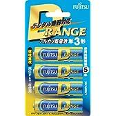 富士通 アルカリ乾電池「D-RANGE」 単3形 4個パック LR6DR(4B)