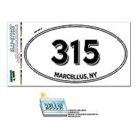315 - マーセラス, NY - ニューヨーク - 楕円形市外局番ステッカー
