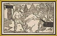 フレーム Albrecht Durer ジクレープリント キャンバス 印刷 複製画 絵画 ポスター(テレンスのコメディからHeauton Timouroumenos 1) #XLK