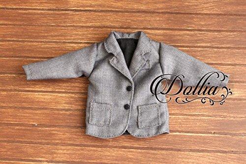 (ドーリア)Dollia ブライス 1/6ドール用 アウトフィット 学生 制服 ブレザー ネオブライス ドール 人形 (グレー)