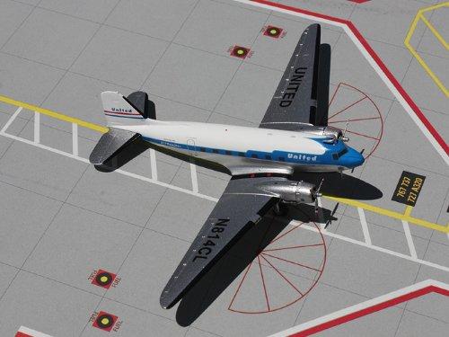1: 200 ジェミニジェット ユナイテッド 航空 DC-3 Old Colors (並行輸入)
