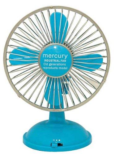 MERCURY マーキュリー USBファン ブルー 【卓上ファン】