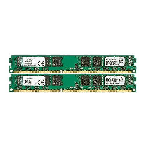 Kingston デスクトップPC用 メモリ DDR3 1333 (PC3-10600) 8GB×2枚 CL9 1.5V Non-ECC DIMM 240pin KVR13N9K2/16 永久保証