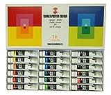 ターナー色彩 ポスターカラー 18色スクールセット PC18C 11ml